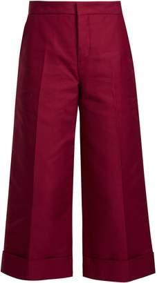 Marni Wide-leg cotton cropped trousers