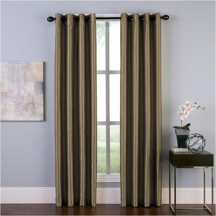 CHFChf Malta Faux Silk Grommet-Top Curtain Panel