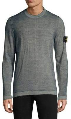 Stone Island Washed Crew Wool Sweater