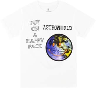 Travis scott Travis Scott Astroworld Happy Face T - Shirt - White