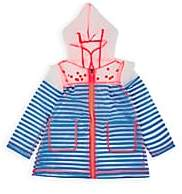 Billieblush Kids' Striped & Polka Dot Raincoat