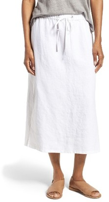 Women's Eileen Fisher Organic Linen Straight Skirt $198 thestylecure.com
