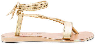 L*SPACE by Cocobelle Rio Sandals in Metallic Gold $99 thestylecure.com