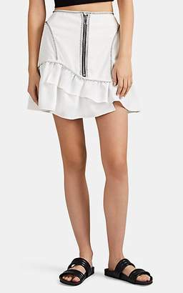 Opening Ceremony Women's Topstitched Canvas Miniskirt - White