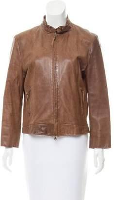 Ermanno Scervino Leather Collared Jacket