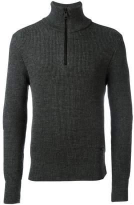 Ami Alexandre Mattiussi fisherman rib half zipped sweater