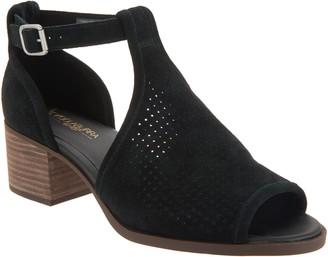 Koolaburra By Ugg by UGG Perforated Suede Heeled Sandals -Ashlyn