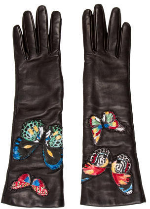 Valentino Valentino 2017 Leather Butterfly Gloves