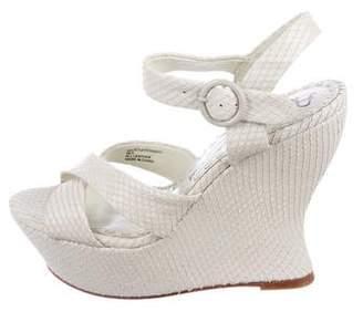 Alice + Olivia Embossed Juliet Wedge Sandals