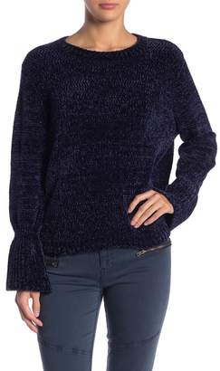 Elan International Flared Cuff Chenille Sweater
