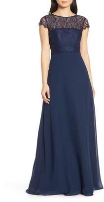 Paige Hayley Occasions Lace Bodice Chiffon Evening Dress