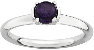 JCPenney FINE JEWELRY Personally Stackable Genuine Amethyst Sterling Silver Stackable Ring