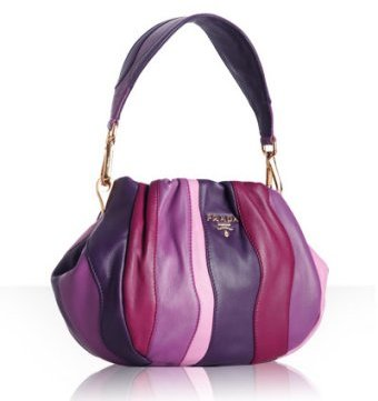Prada violet lambskin 'Stripes' small bag