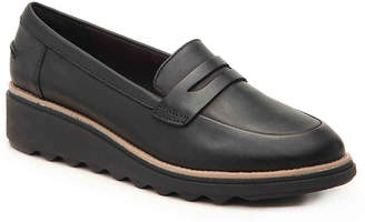 Clarks Sharon Ranch Wedge Penny Loafer - Women's