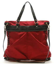 Hayden-Harnett IBIZA CONVERTIBLE FLIGHT TOTE, RED