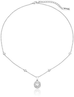 Nina Cubic Zirconia Cluster Pendant Necklace