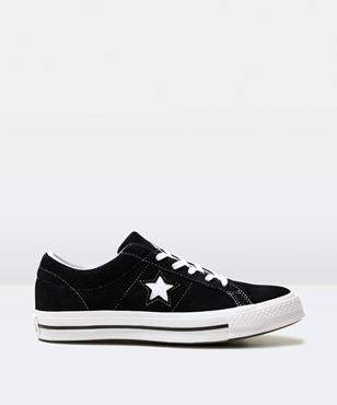 Converse One Star Suede Black White Shoe