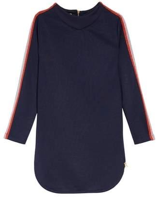 Scotch R'Belle SCOTCH RBELLE Sweatshirt Dress with Sparkle Rainbow Stripes