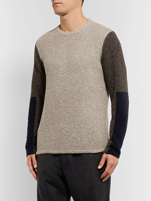 Folk Colour-Block Knitted Sweater
