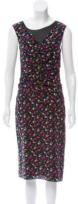 Nina Ricci Silk Floral Print Dress w/ Tags