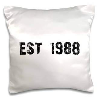 3dRose Grunge Est Established in 1988 - Eighties Baby Born Child of the 1980s - Personal custom birth year - Pillow Case, 16 by 16-inch