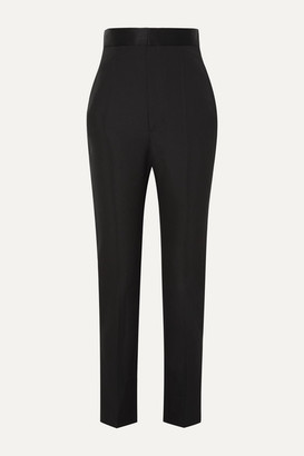 Haider Ackermann Grain De Poudre Wool Slim-leg Pants - Black