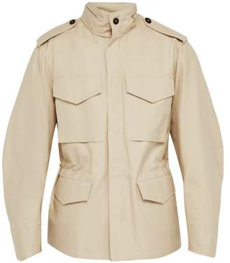 Dunhill Cotton Twill Field Jacket - Mens - Beige