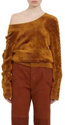 Haider Ackermann Aralia Off-the-Shoulder Sweater