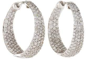 Roberto Coin 18K Diamond Scarlare Inside-Out Hoop Earrings
