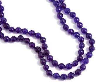 "Dee Berkley 50"" Purple Quartzite Bead Necklace"