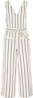 Madewell Cropped Cotton And Linen-blend Canvas Jumpsuit