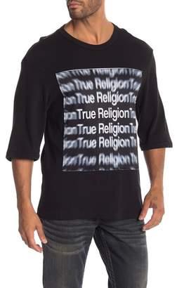 True Religion Short Sleeve Oversized 3D Tee