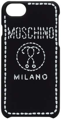 Moschino black and white Milano logo iPhone 8 case