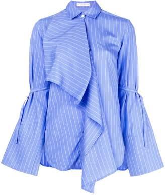 Palmer Harding Palmer / Harding striped asymmetric shirt top