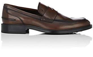 d7a912604bc Tod s Men s Burnished Leather Penny Loafers - Med. brown