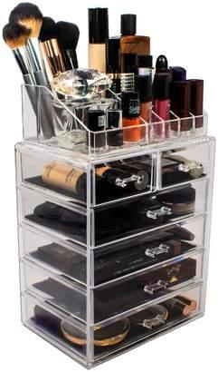 Sorbus Acrylic 6 Drawer & Top Organizer Cosmetics Makeup & Jewelry Storage Case Display Set