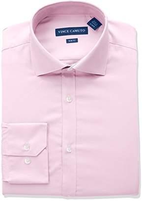Vince Camuto Men's Slim Fit Spread Collar Solid Dress Shirt
