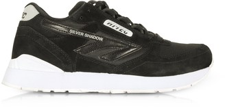 Hi-Tec Silver Shadow Black/Cool Grey Mesh and Suede Unisex Trainers