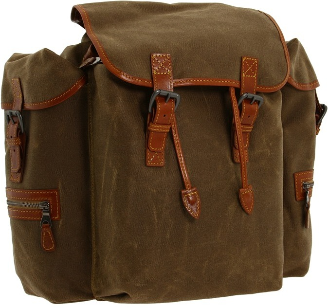 Mulholland Brothers - Rucksack Backpack (Tan Waxed Canvas) - Bags and Luggage