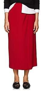 A.L.C. Women's Ainsley Plissé Midi-Skirt-Red