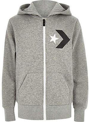 River Island Boys Converse grey zip up tracksuit hoodie