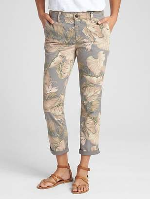 Gap Print Girlfriend Khakis