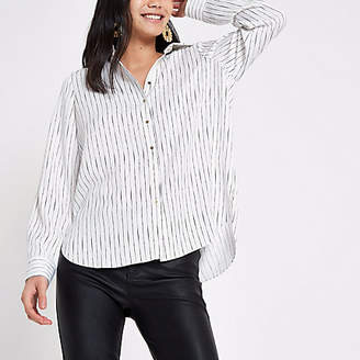 River Island Cream stripe shirt