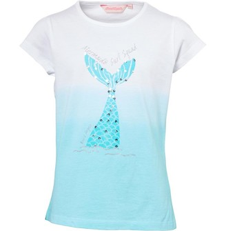 Board Angels Girls Mermaid T-Shirt White/Turquoise