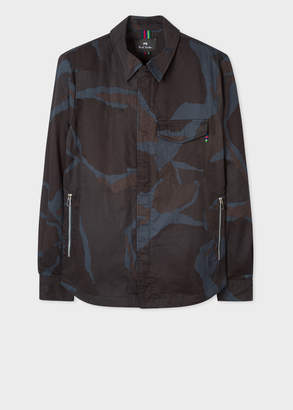 Paul Smith Men's Navy Camouflage Cotton Overshirt
