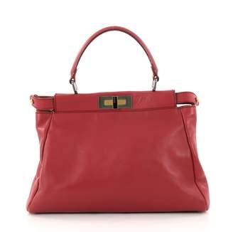 Fendi Peekaboo leather handbag