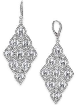 INC International Concepts I.n.c. Silver-Tone Crystal Kite Chandelier Earrings, Created for Macy's