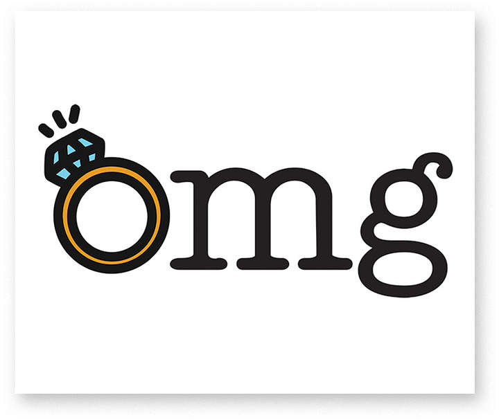 'OMG' Ring Engagement Greeting Card - Set of Six