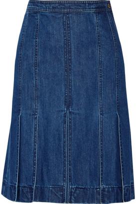 Michael Kors Collection - Denim Skirt - Mid denim $695 thestylecure.com