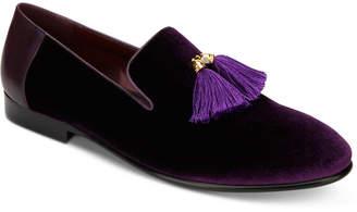Tallia Men's Eduardo Velvet Tassel Loafers Men's Shoes
